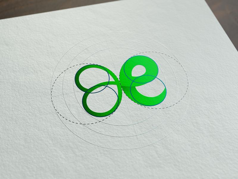Erin - Logo for Irish School design paper english school ireland leaf guidelines green shamrock irish branding brand logo