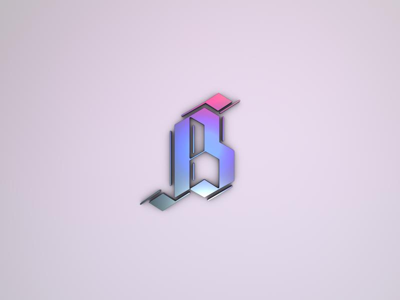 3D Letter B design challenge 4d cinema typography calligraphy letter 3d cinema4d