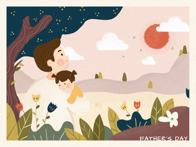 Illustration Challenge - Day 2 - Happy Father's Day fathersday ui illustration