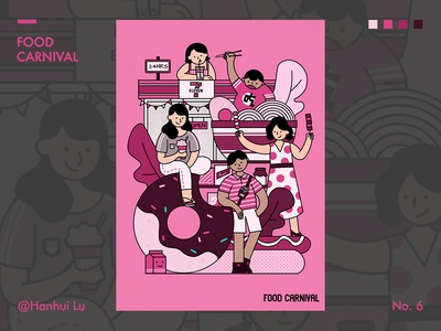 Illustration Challenge - Day 6 - Food Carnival