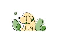 Line art illustration-MyDog