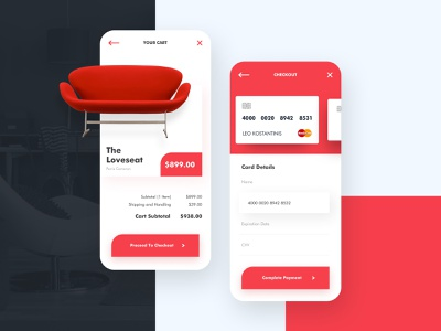 Checkout App Page - Daily UI 100 Challenge day002 payment checkout app design app concept daily challenge 100 ui design