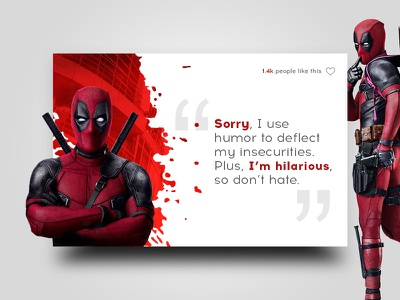 Day 007 - Author Quote funny deadpool challenge 100 daily design ui quote author 006 day
