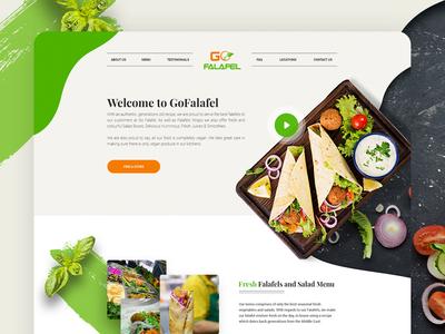 Falafel Restaurant Website Design