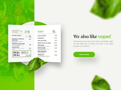 Falafel Restaurant Website Section - Menu