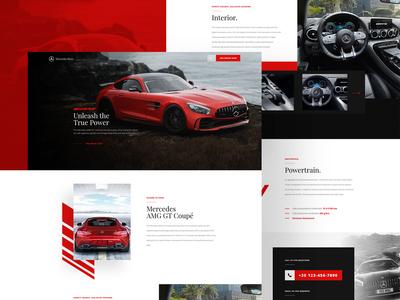 AdobeXD Freebie - Minimalistic Car Landing Page