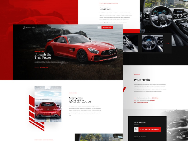 AdobeXD Freebie - Minimalistic Car Landing Page web design website layout interface ux ui xd file project homepage freebie adobe xd premium minimal luxury car landing page minimalistic
