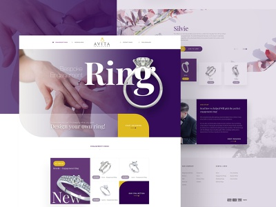 Engagement Jewellery Landing Page rings wedding homepagedesign layout design website minimal minimalistic premium interface uiux ui redesign landing page luxury jewellery jewelry adobe xd