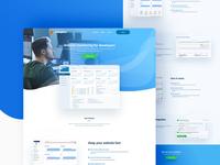 Web App Landing Page Design