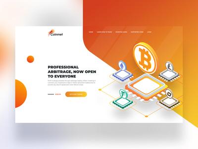 Cryptocurrency Trading Platform Landing Page