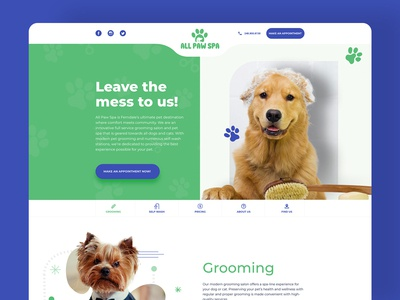 AllPawSpa Landing Page Design - Pet's Center