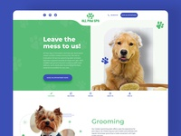 AllPawSpa Landing Page Design - Pet's Center