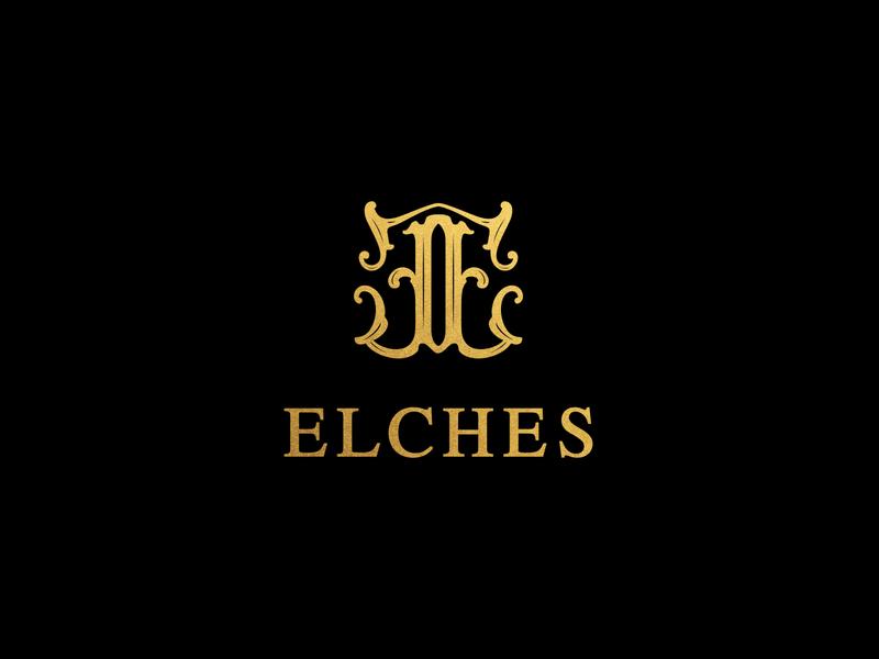 ELCHES logo design luxurious luxury icon minimalism branding logo minimal brand design