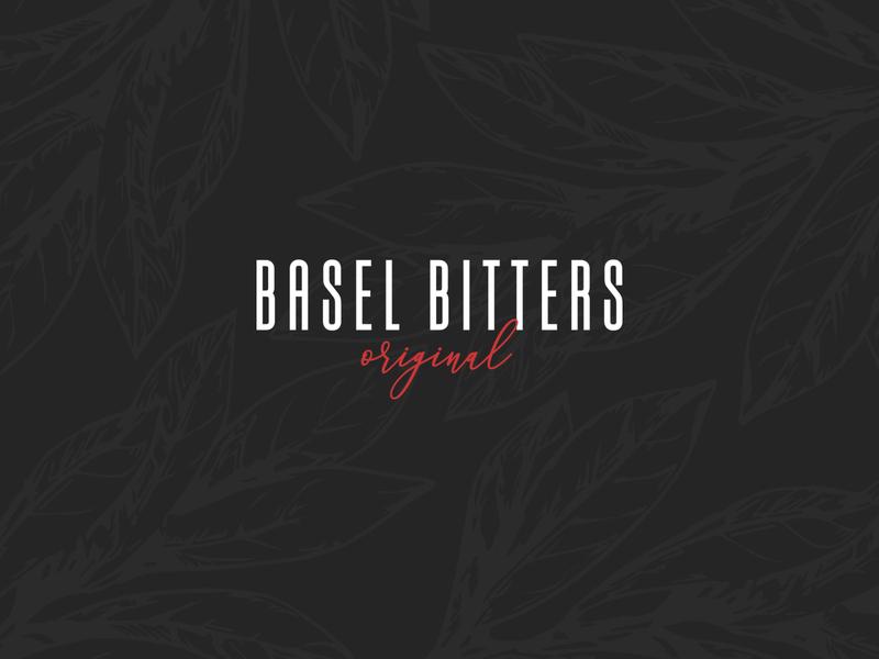 Basel Bitters Original simple branding identity drinks minimal design brand