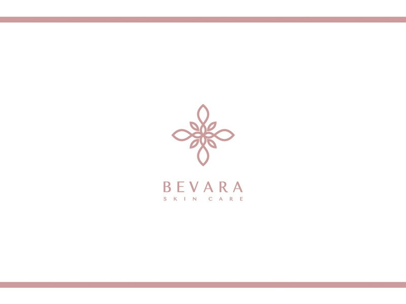BEVARA fashion blogger fashion blog blog ui typography simple rose gold minimalism logo lettering icon beauty product beauty logo beauty modern minimal identity design branding brand