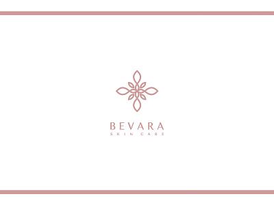 BEVARA fashion blogger fashion blog blog ui typography simple rose gold minimalism logo lettering icon beauty product beauty logo beauty modern minimal identity design branding brand