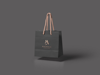 MAGNOLIA luxury lux simple rose logo rose gold logo design branding logo design jeweler jewelery beauty product minimalism beauty logo beauty logo modern minimal identity design branding brand