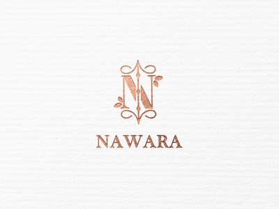 NAWARA lux logo design logo design branding luxurious luxury rose gold beauty product typography beauty logo beauty simple icon minimalism logo modern minimal identity design branding brand