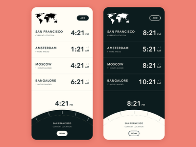 Zones - Timezone app for any time now or in the future minimalist timezones time mobile app mobile app uiux ux ui product design
