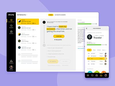 Directly Platform - Automation / Mobile + Desktop uxui ux product design product design