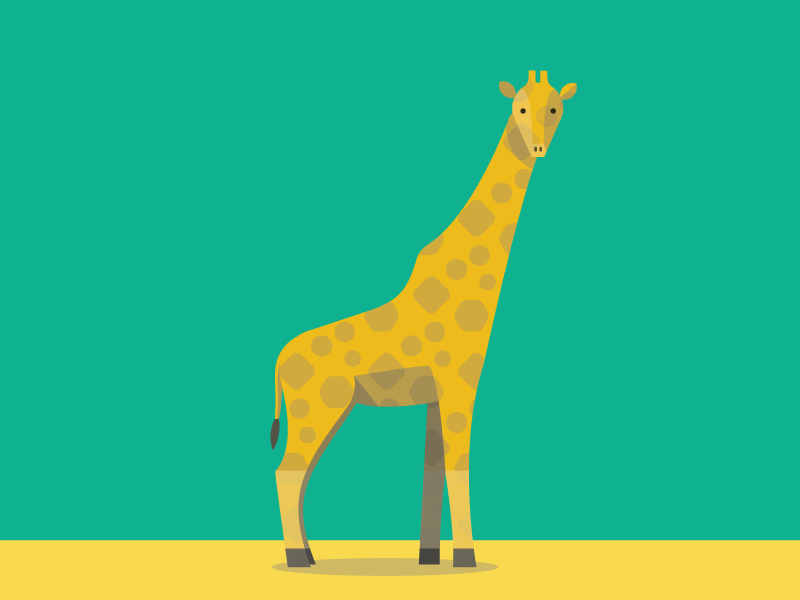 Giraffe illustration giraffe animals abc flat color simple pattern