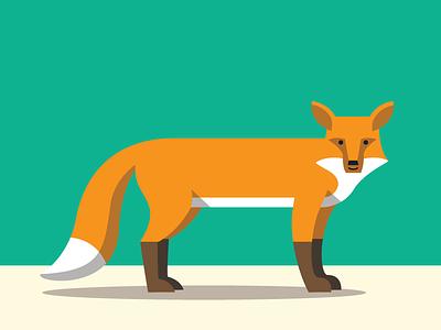 Fox #2 illustration fox animals abc flat color simple
