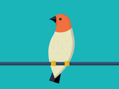 Quelea illustration animals abc flat color simple quelea