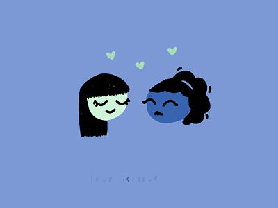 love is love x 2 doodle sketch illustration weeklywarmup valentinesday valentine heart love