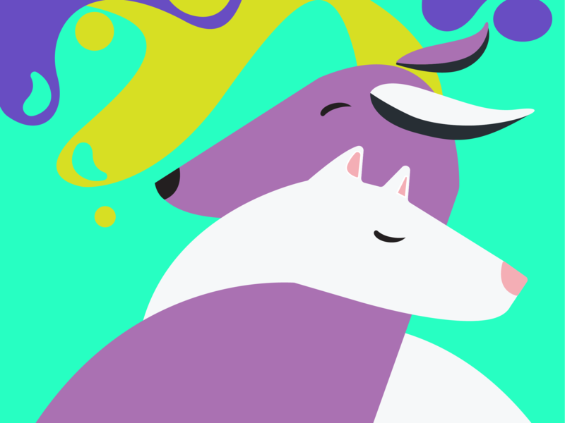 Dogs love vector illustration ivankidon flat love dog