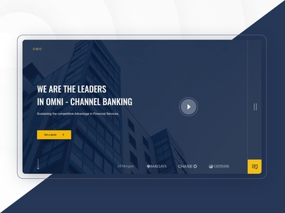 Banking Solution Company - Corporate website - Home page