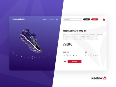 Reebok Crossfit - Product page