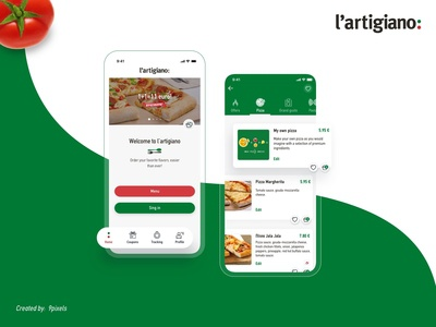 Food app products catalogue