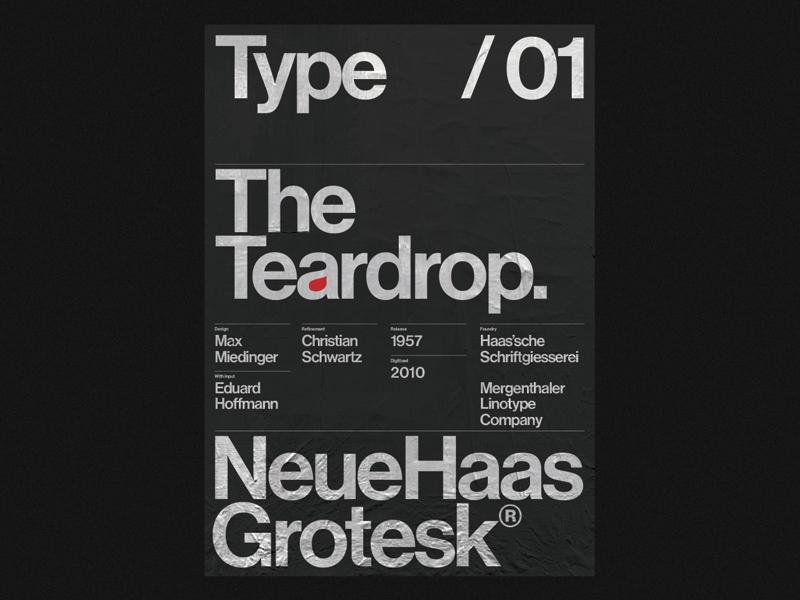 The Teardrop — Neue Haas Grotesk by Živan Rosić on Dribbble