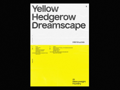 Yellow Hedgerow Dreamscape