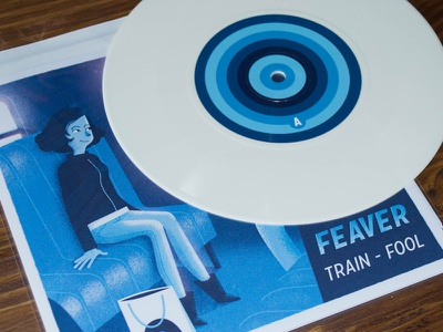 "Train 7"" feaver train 7 white vinyl record"