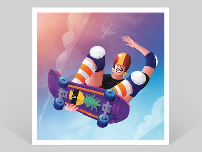 Ben Gravy! Yew! 80s old school helmet kneepads big air melongrab skate skateboarder ben gravy