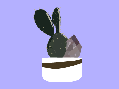 Cactus with Amethyst