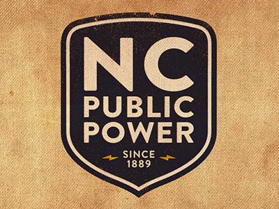 Vintage NC Public Power Logo energy lightning power public north carolina weathered worn vintage logo