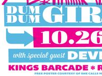Free Dum Dum Girls Poster