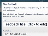 Feedback Modal Window