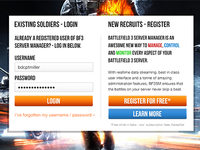 Battlefield 3 Server Manager Homepage