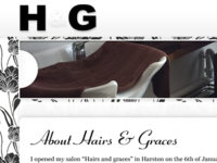 Hairs & Graces Header Section