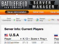 Battlfield Bad Company 2 Server Manager - Server Overview