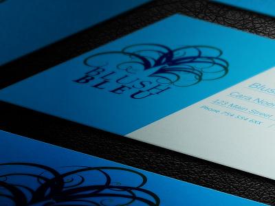 Blush Bleu Business Card Concept print design identity design logo design