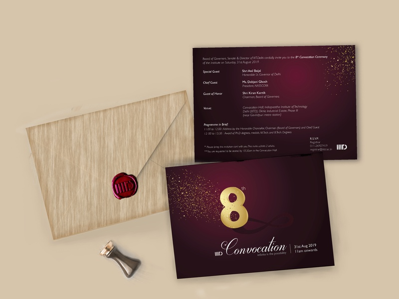 Convocation Invitation Card By Richa Kedia On Dribbble