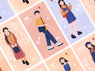 Girls and boys girl flat illustraion design