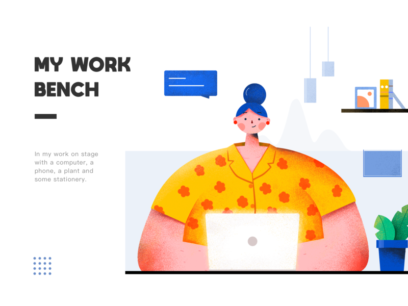 Workbench web ui flat design illustraion