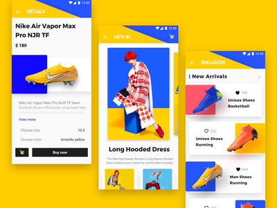 E-commerce application_1 e-commerce app 设计 ux ui