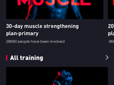 Fitness exercise application_1 exercise bodybuilding fitness app color design app ux ui