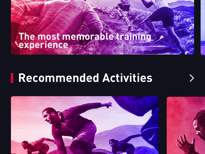 Fitness exercise application_3 fitness app exercise bodybuilding color design app ux ui